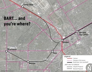 The alternative alignment would provide regional transit connections to existing and future development nodes.